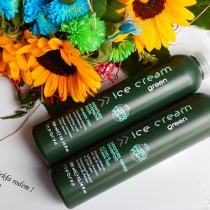 Lodowy duet dla pięknych włosów od Hairstore –  Inebrya Ice Cream Green nawilżający szampon i odżywcza maseczka