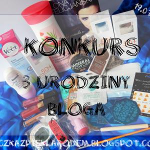 3 urodziny bloga i konkurs dla Was :)