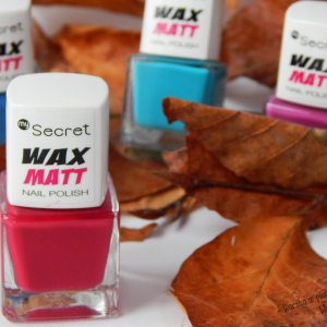 Malinowa jesień z lakierami My Secret Wax Matt – Hot Raspberry
