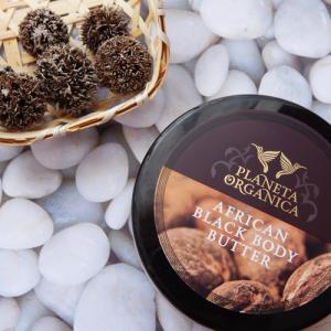Afrykańskie czarne masło do ciała Planeta Organica – ultra treściwe i ultra gęste