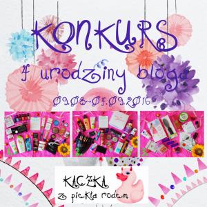 Konkurs urodzinowy – 4 lata bloga :)