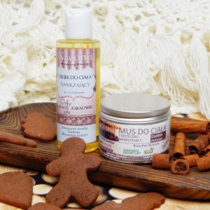 Ciasteczkowa pielęgnacja – nawilżający olejek i mus do ciała Nacomi
