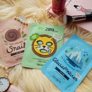 Ulubione maski w płacie Skin79 – Snail, Glacial Water i Angry Cat