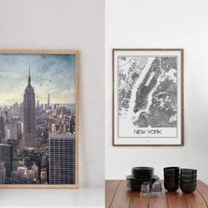 Jak dobrać plakaty miasta w najlepszym dla wnętrza rozmiarze? Prezent dla Was.