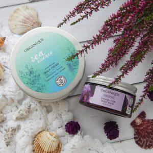 Pielęgnacja o uzależniającym zapachu – Organique balsam do ciała z masłem shea Black Orchid i krem do ciała Sea Essence