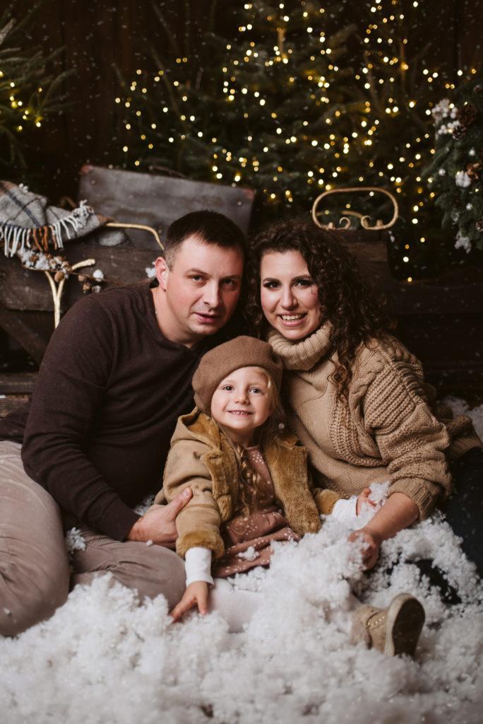 świąteczna sesja rodzinna
