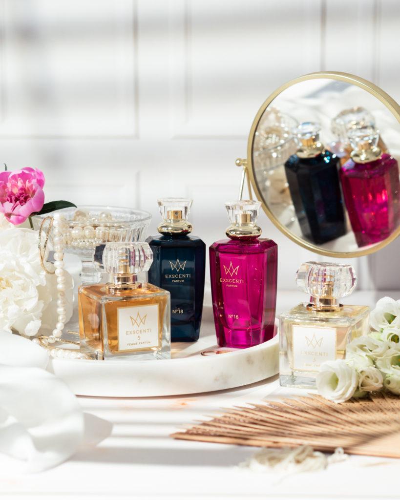 flakony z perfumami exscenti
