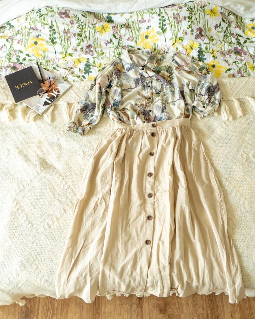 spódnica-koszula-zestaw