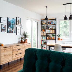 Wymarzony salon z plakatami Desenio